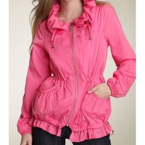 💕NWOT Betsey Johnson Ruffle Windbreaker XS💕